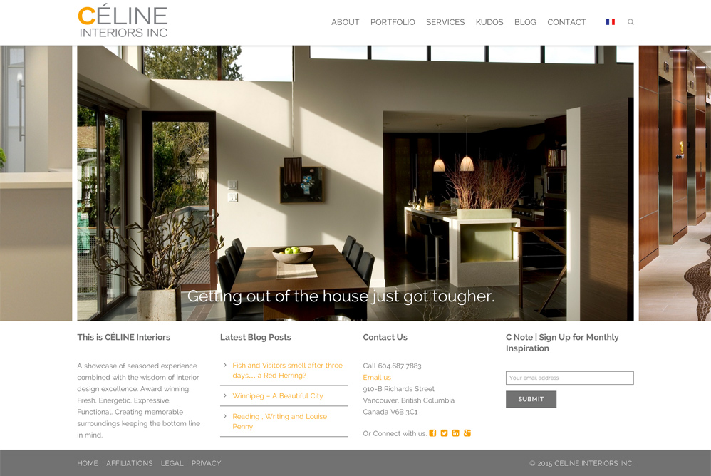 Celine Interiors - Website Rebuild
